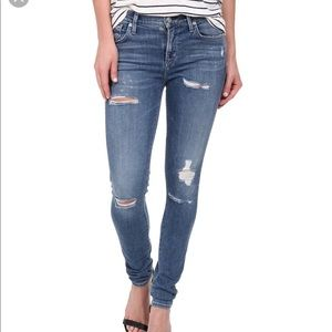 AGOLDE Sophie High Rise Skinny Distressed Jeans 25